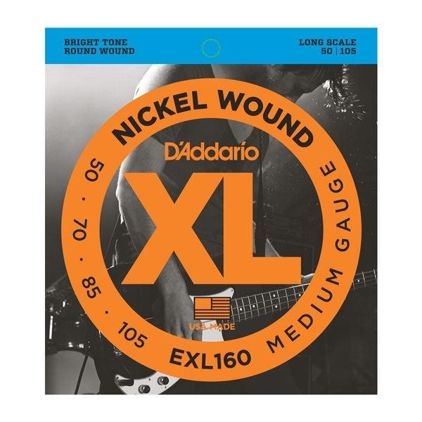 D'Addario round wound nickel 50-105