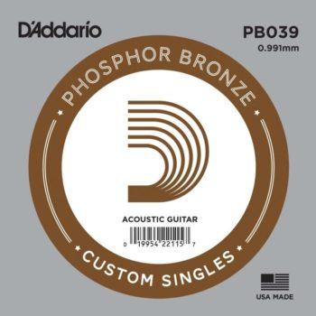 D'Addario Phosphor Bronze Acoustic 039