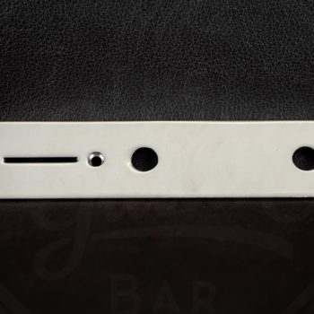 "Boston Control plate for Tele, nickel, 32x160mm, 9,5mm (3/8"") holes for inch pots"