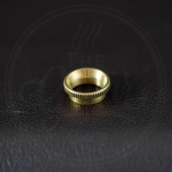 Switchcraft switch nut, deep, knurled, brass, for thick top guitars