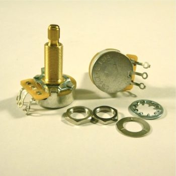 CTS 500k audio potentiometer, long bushing, 9% tolerance, brass shaft