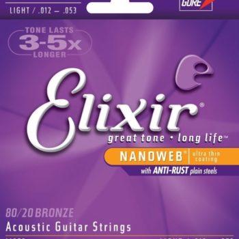 Elixir Nanoweb 80/20 brons 12-53