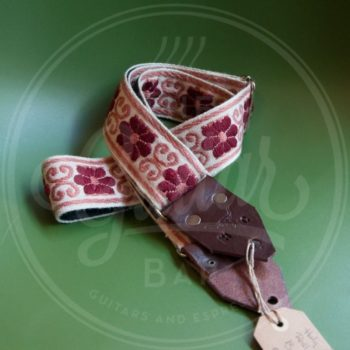 Holy Cow Real Vintage Burgundy Flower 60s strap