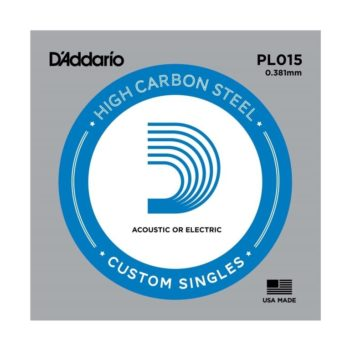 D'Addario High Carbon Steel Acoustic/electric 015