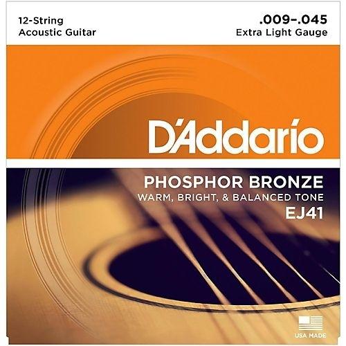 D'Addario 12string ac guitar Phosphor Bronze 009-045