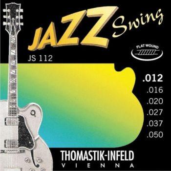 Thomastik Jazz swing string set E-guit, nickel flatwound 12-50