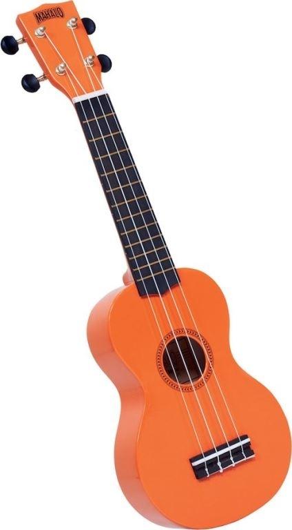 Mahalo Rainbow ukelele - Aquila strings - nubone saddle -gigbag - orange