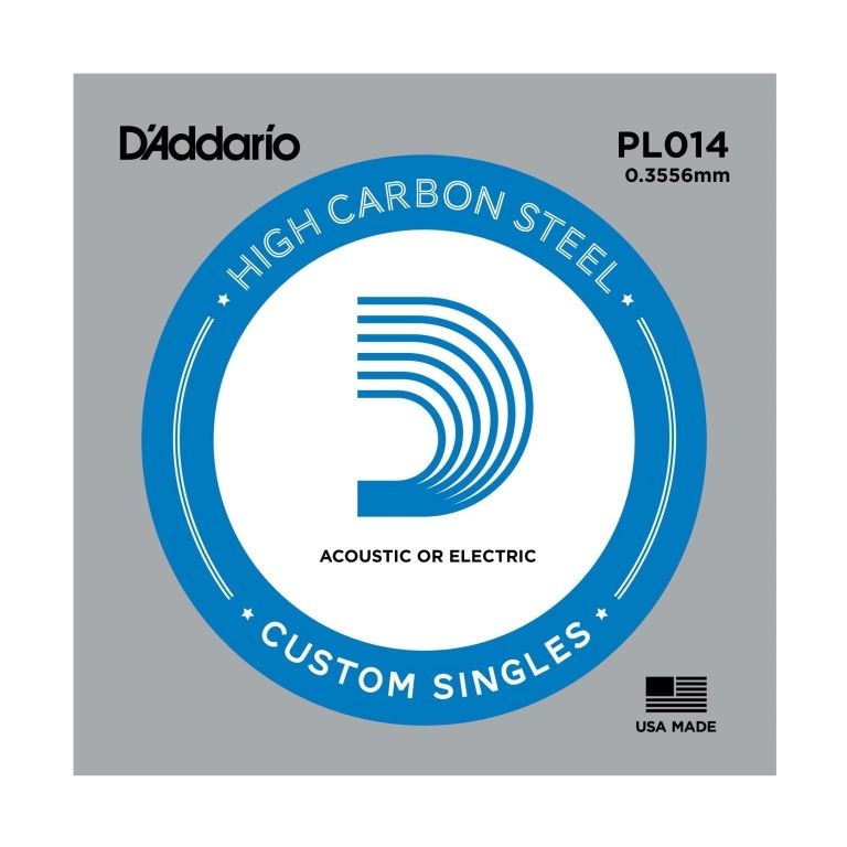 D'Addario High Carbon Steel Acoustic/electric 014