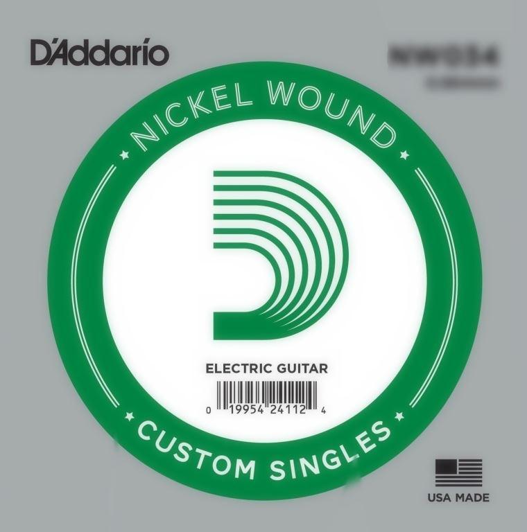 D'Addario Nickel Wound Electrisch 024