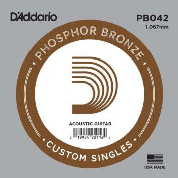 D'Addario Phosphor Bronze Acoustic 042