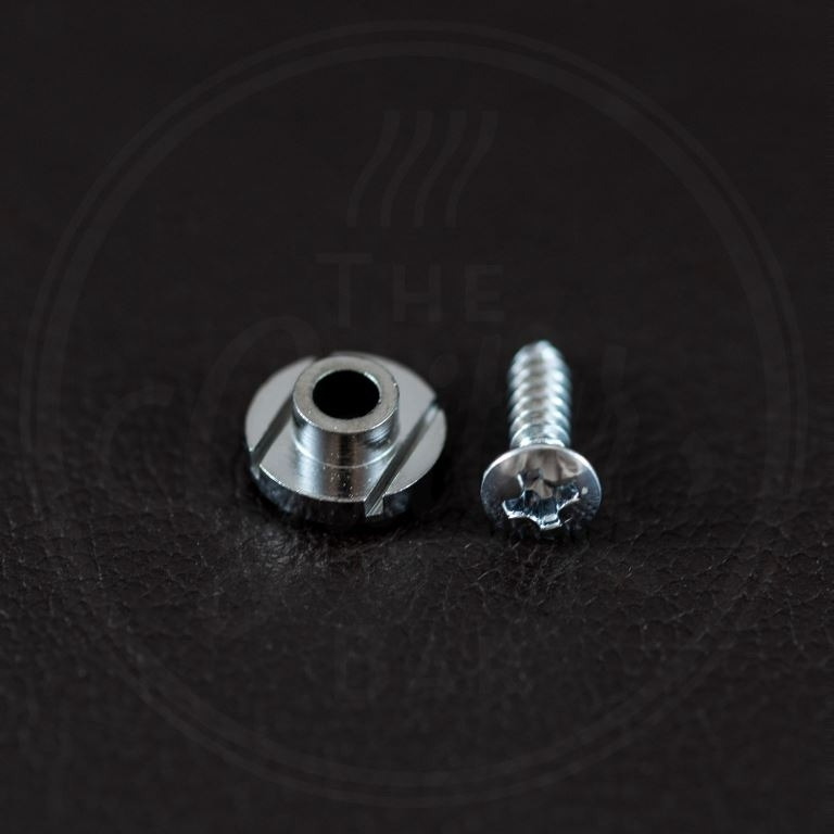 button model, chrome, with screw, diameter 10mm, height 5mm