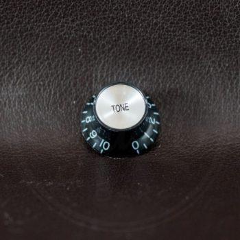 bell knob, SG model, black with chrome cap, tone