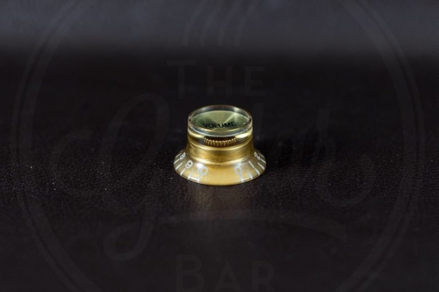 bell knob, SG model, gold with gold cap, volume, for inch type pot shaft