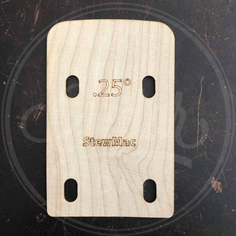 neck shim for bass, shaped, 0.25 degree