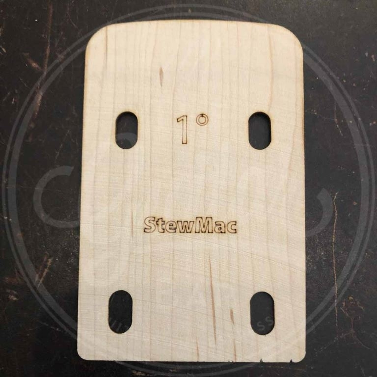 neck shim for bass, shaped, 1 degree