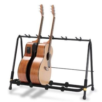 HERCULES Guitar Display Rack foldable, for five instruments