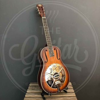 Royall wooden body single cone resonator HOBO, 12 frets, sunburst finish, with softcase