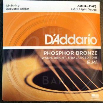 D'Addario 12string ac guitar PB - various sets