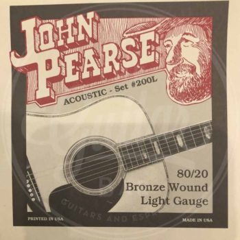 John Pearse Strings 200L 80/20 Bronze Light