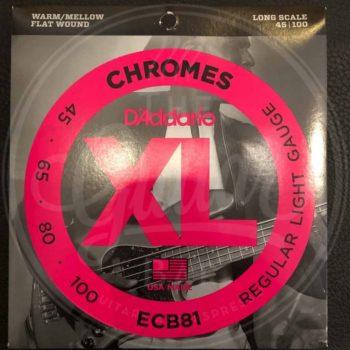 D'Addario Bassnaren XL Chromes Flat Wound - various sets