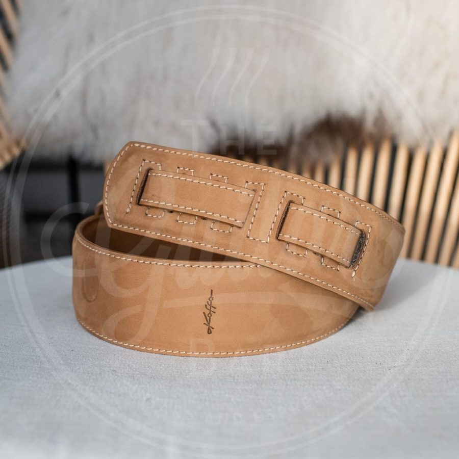 Kaffa guitarstrap suede camel - leather