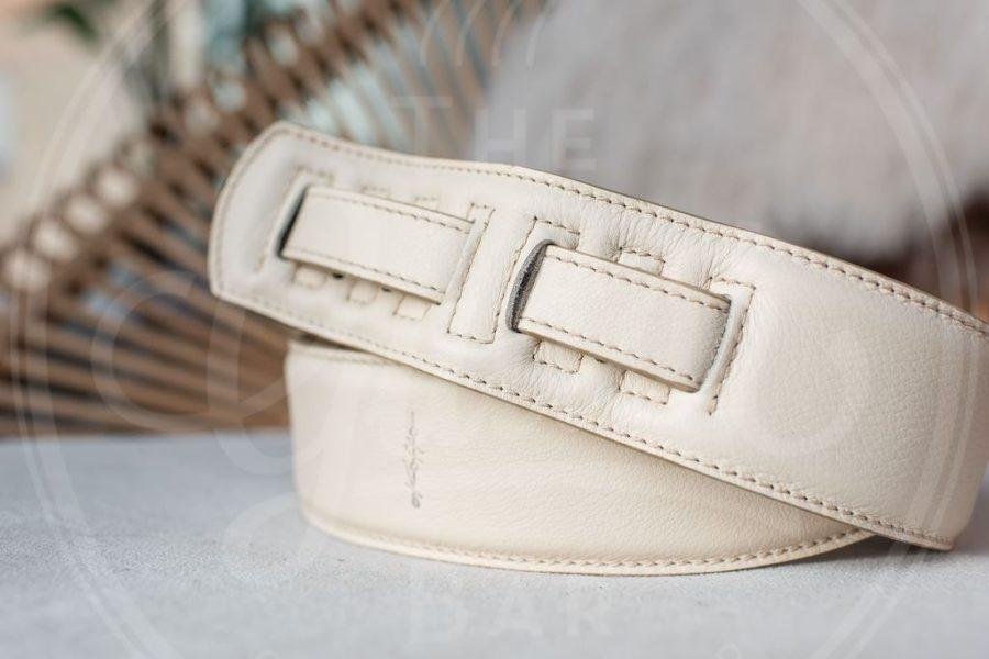 Kaffa guitarstrap simply cream - leather