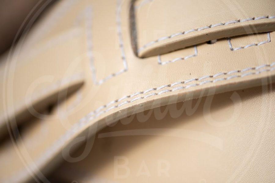 Kaffa guitarstrap softly cream - leather