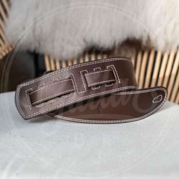 Kaffa guitarstrap softly brown- leather