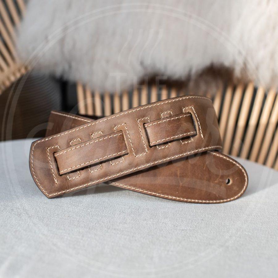 Kaffa guitarstrap vintage brown - leather
