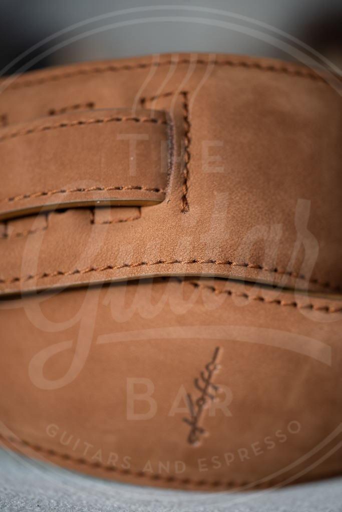 Kaffa guitarstrap sueade light brown - leather