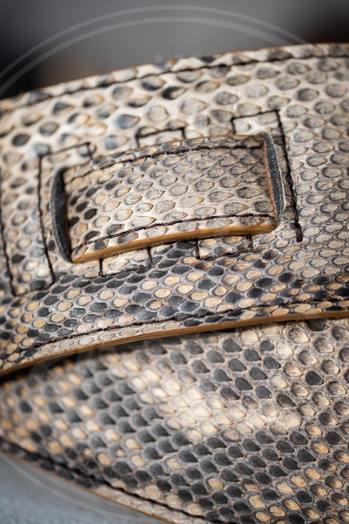 Kaffa guitarstrap Python leather - natural