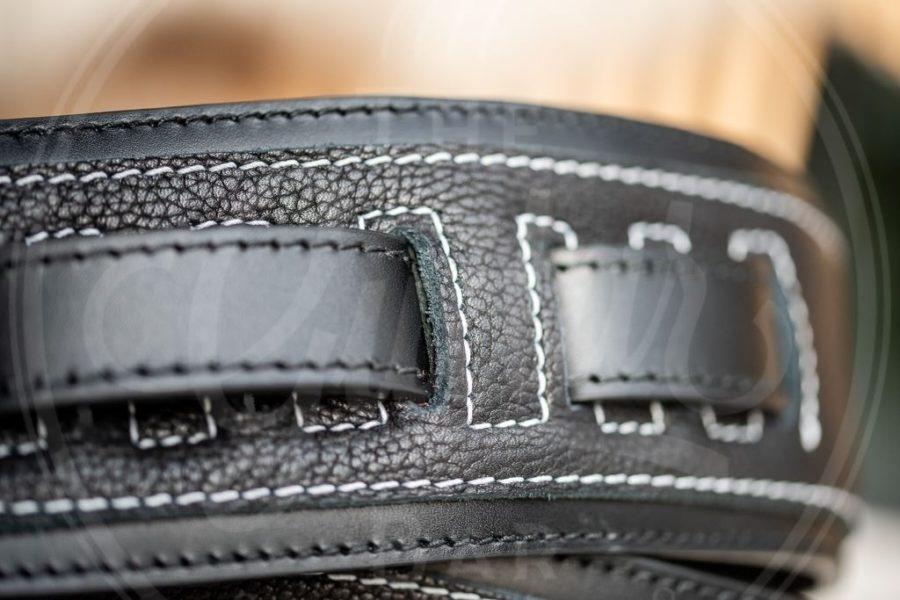 Kaffa guitarstrap rebel black - leather