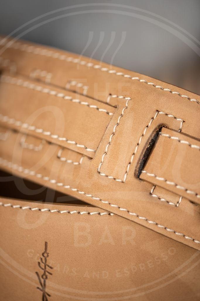 Kaffa guitarstrap suede camel - leather