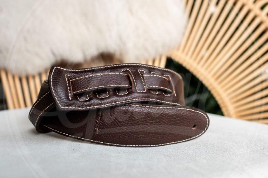 Kaffa guitarstrap buffalo dark brown - leather