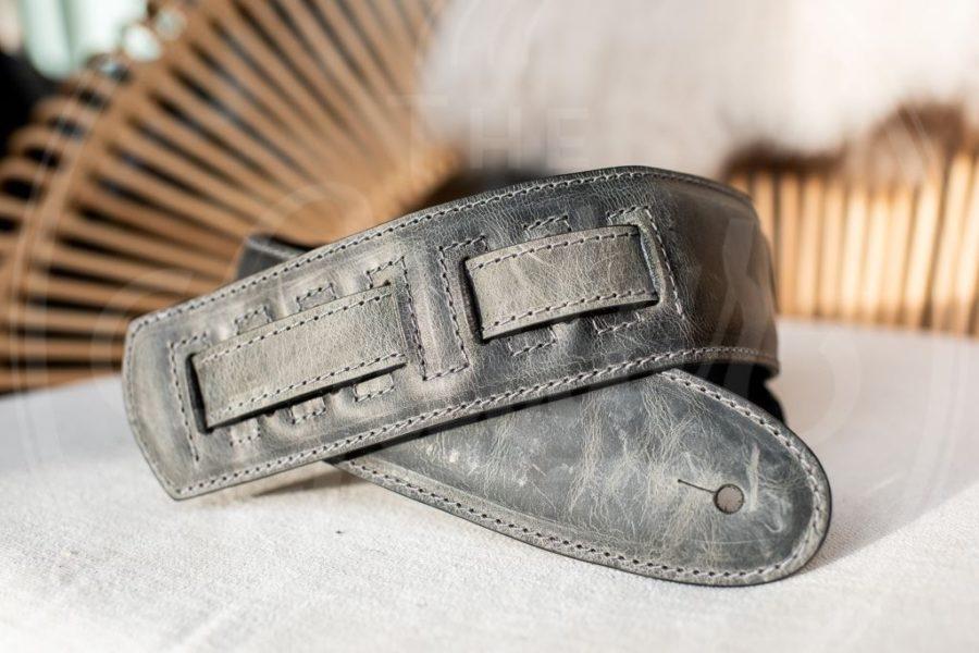 Kaffa guitarstrap ceniza grey - leather