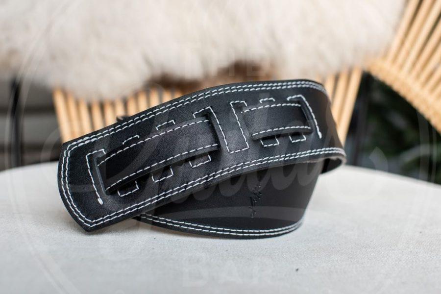 Kaffa guitarstrap softly black - leather