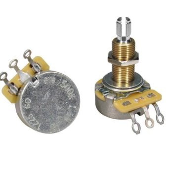 """CTS CTS USA 500K linear potentiometer, long bushing .750"""", 3/8"""" diameter, for thick/ carved tops, LP"""