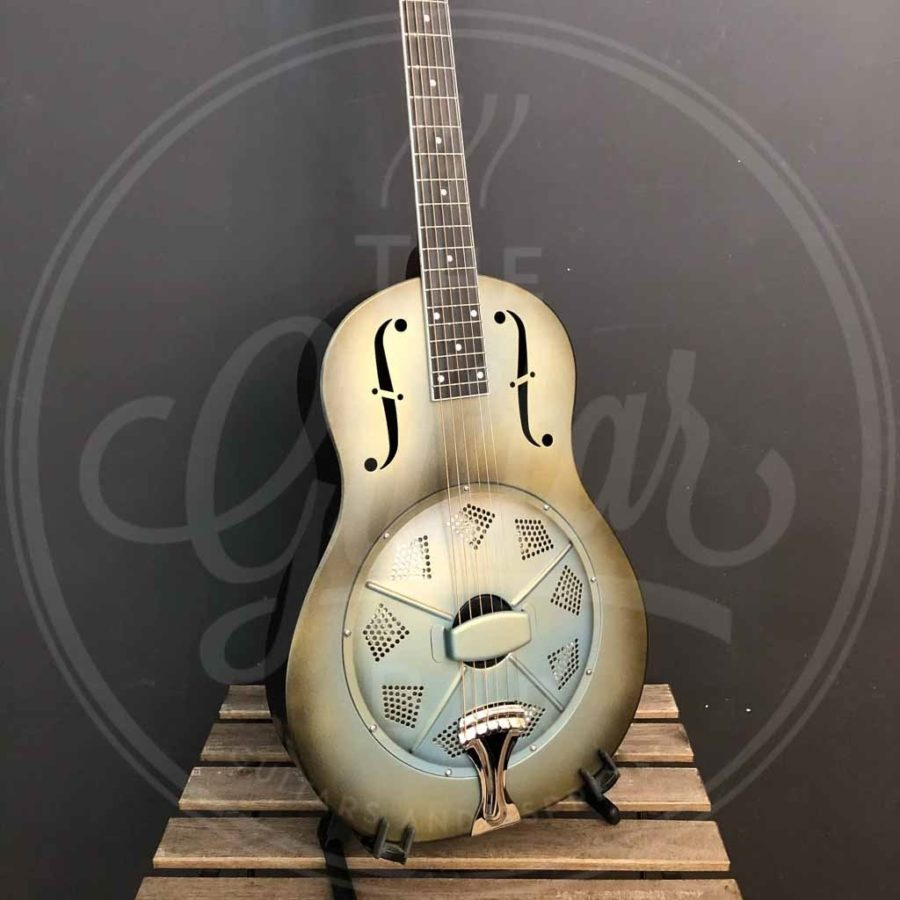 Royall steel body single cone resonator PONY BOY, 12 frets antique finish, with softcase