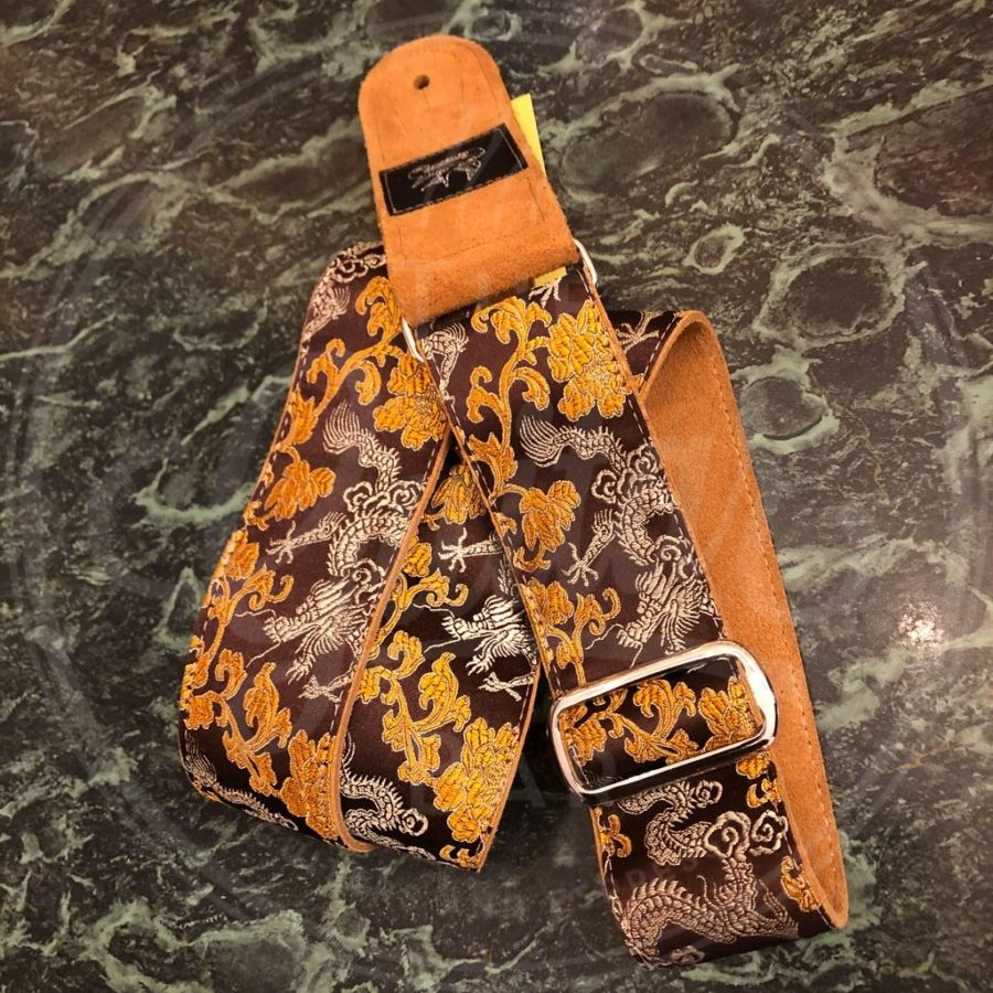 Jaykco Orange and Gold Dragon on Brown