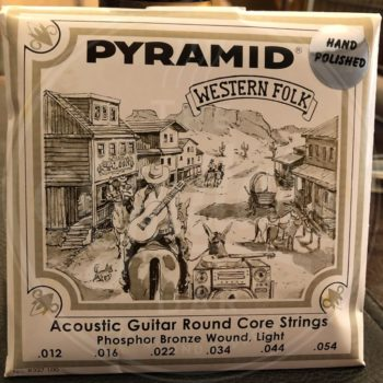 Pyramid steelstring acoustic guitar strings hand polished