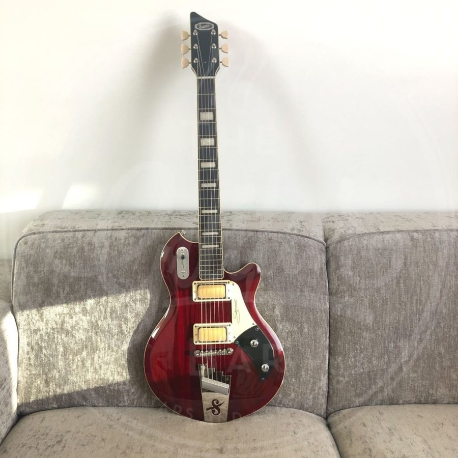 Supro Silverwood trans cherry red