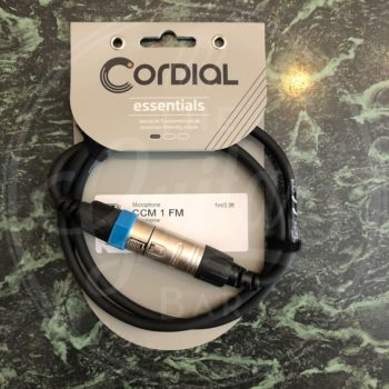 Cordial microphone cable 1mtr