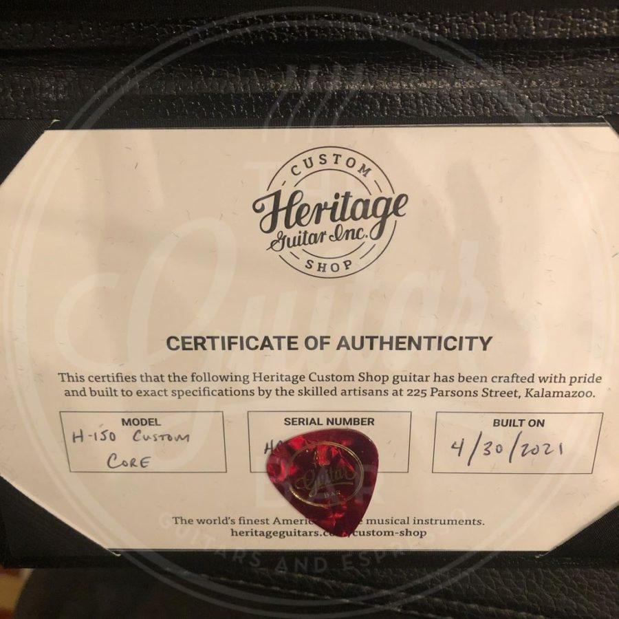 Heritage Custom Shop Core Collection H-150, Dirty Lemon Burst